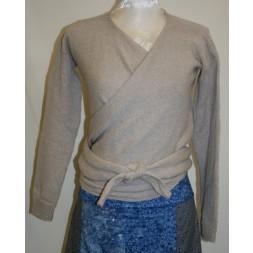 Slå-om Bluse model Isabella strikket i Organic 350-20