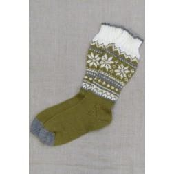 Strømper med mønster strikket i Sock 4-20