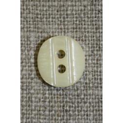 Lille knap m/rille 11 mm. off-white-20