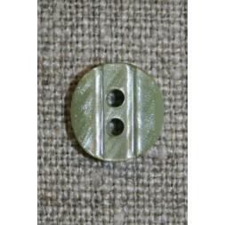 Lille knap m/rille 11 mm. lys støvet grøn-20