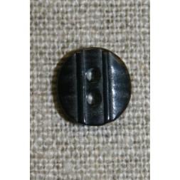 Lille knap m/rille 11 mm. sort-20
