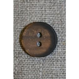 Oliven-brun meleret knap, 15 mm.-20