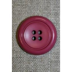Mørk pink 4-huls knap, 24 mm-20