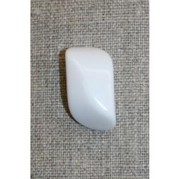 Aflang hvid knap, 28 mm.-20