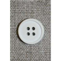 Gummi-knap i hvid/lysegrå, 15 mm.-20