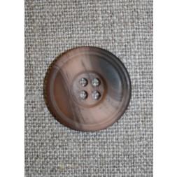 Meleret 4-huls knap pudder/brun, 23 mm.-20