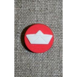 Knap m/papir-hat, rød/hvid-20