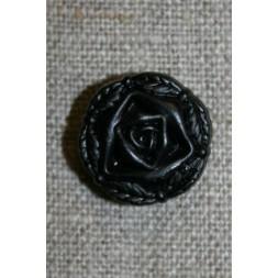 Rose knap sort, 18 mm.-20
