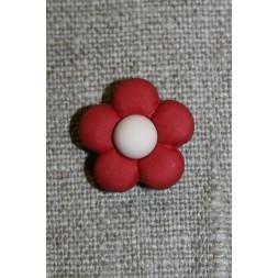 2-farvet blomsterknap bordeaux/creme-20