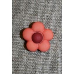 2-farvet blomsterknap koral/bordeaux-20