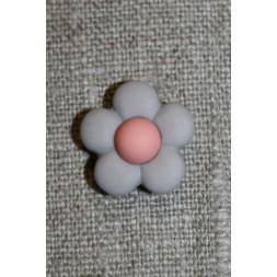 2-farvet blomsterknap lys grå-lyng/rosa-20