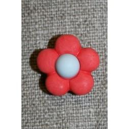 2-farvet blomsterknap koral/lysegrå-20