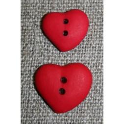 Asymetrisk hjerteknap, rød 15 mm-20