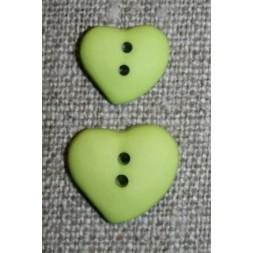 Asymetrisk hjerteknap, lime-20