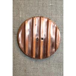 Rillet kobberknap i horn, 52 mm.-20