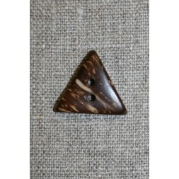 3-kantet kokosknap, 20 mm.-20