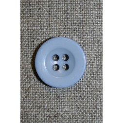 Lyseblå 4-huls knap, 18 mm.-20