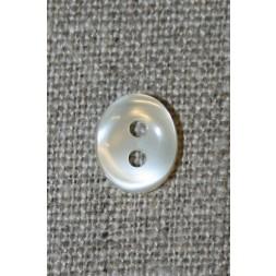 Oval off-white knap 11 mm.-20
