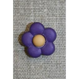 2-farvet blomsterknap mørkelilla/lysebrun-20