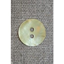 Perlemorsknaplyslimegul15mm-20