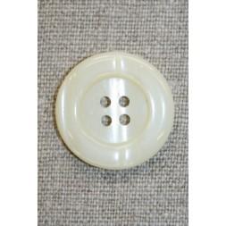 Off-white 4-huls knap, 25 mm.-20