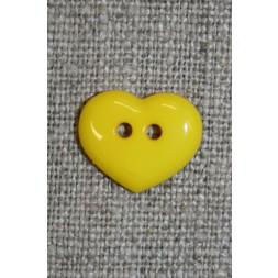 Hjerteknap 15 mm. gul-20