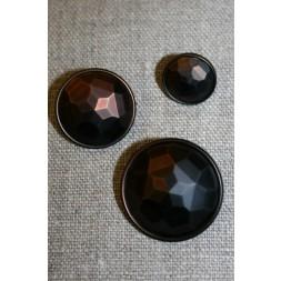 Faset-slebne knapper i metal look, gl.kobber-20