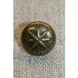 Gl.guld knap m/stjerne, 12 mm.-20