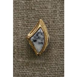 Knap guld/marmor-look, 18 mm.-20
