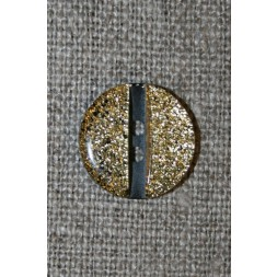 2-huls knap m/glimmer koksgrå/guld-20