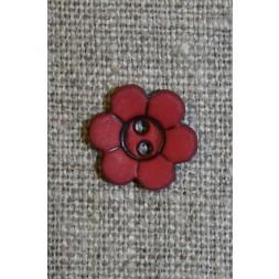 Blomster knap, bordeaux-20
