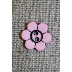 Blomster knap, lyserød-20