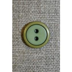 2-farvet knap lime/løvgrøn, 12 mm.-20