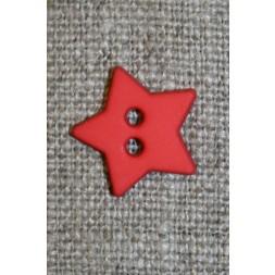 Knap stjerne, orange-rød-20