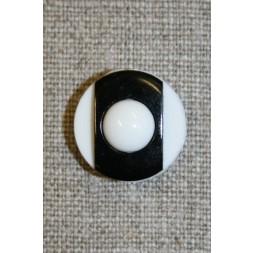 Knap m/øje sort/hvid 18 mm-20