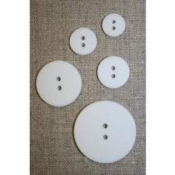 Hvid 2-huls knap i 18 mm.-20