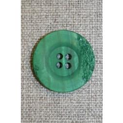 4-huls knap krakeleret græsgrøn, 23 mm.-20
