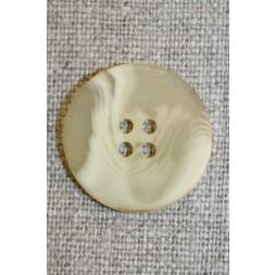 Buet 4-huls knap creme/lysegul, 22 mm.-20