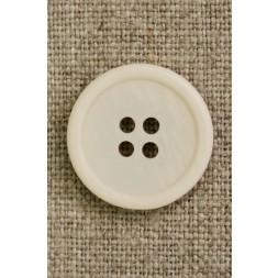 4-huls knap off-white, 20 mm.-20