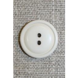 Kit/off-white 2-huls knap,18 mm.-20