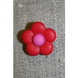 2-farvet blomsterknap rød/pink-20