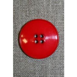 Rød 4-huls knap, 28 mm.-20