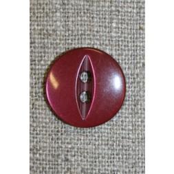 Blank 2-huls knap m/oval midte, bordeaux-20