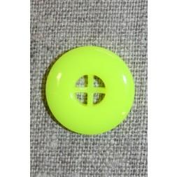 Neon knap gul, 20 mm.-20