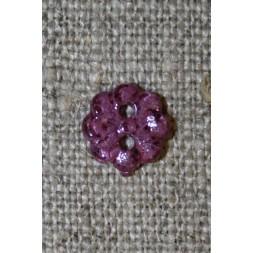 Lille lilla blomster-knap, 9 mm.-20