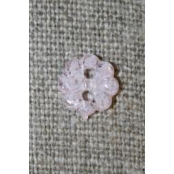 Lille lyserød blomster-knap, 9 mm.-20