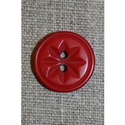 Knap m/stjerne rød, 20 mm.-20