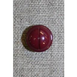 Rund knap m/rille, bordeaux 12 mm.-20