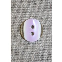 2-huls knap klar/lyselilla, 11 mm.-20