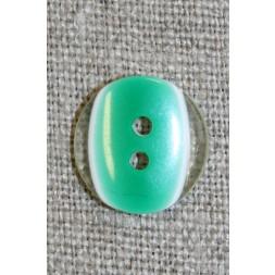 2-huls knap klar/græsgrøn, 15 mm.-20